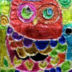 Donna - Owl, Markers on Aluminium foil.